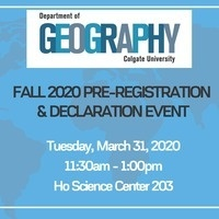 GEOGRAPHY PRE-REGISTRATION AND DECLARATION EVENT!
