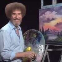 April Painting with Bob Ross
