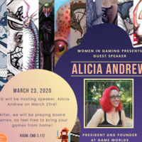 CANCELED: Women in Gaming: A Talk with Alicia Andrew
