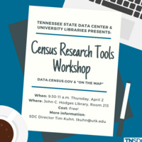 Census Research Tools Workshop covering data.census.gov and On the Map