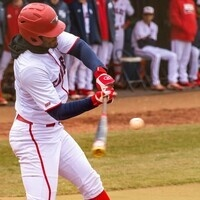 USI Baseball player batting