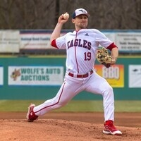 USI Baseball player pitching