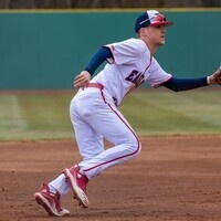 USI Baseball player fielding