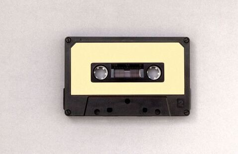 A picture of a cassette tape.