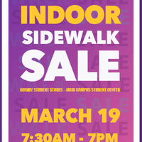 *CANCELLED * Indoor Sidewalk Sale