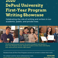 First-Year Program Writing Showcase: Call for Submissions