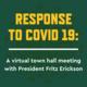 VIRTUAL TOWN HALL: NMU's Response to COVID19