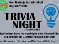 Miner Challenge Trivia Night Fundraiser! (Cancelled)