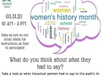 Women's History Word Clouds