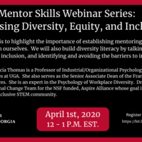 Mentor Skills Webinar: Addressing Diversity, Equity, and Inclusion