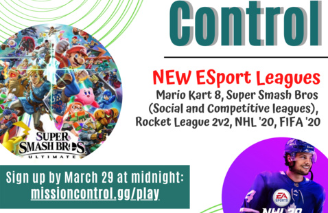 ESports Sign Up flyer