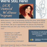 Financial Wellness Program is Still Here! Appointments Available
