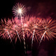 Picture of pink and gold fireworks.