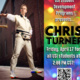 Chris Turner photo with event information included in event summary and QR code