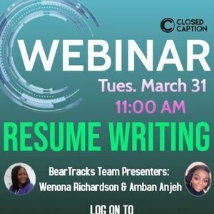Resume Writing Webinar