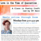 Virtual Poetry Class: Love in the Time of Quarantine