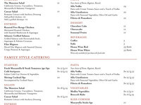 The Marquess Tavern Pickup Menu