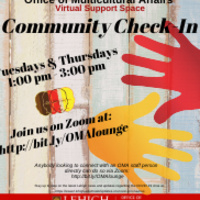 Virtual M-Room: Community Check-In | Office of Multicultural Affairs