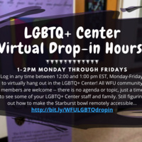 LGBTQ+ Center Virtual Drop-In Hours