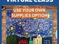 $15 /$30 Kids Paint Virtual Online Classes w/Curbside Supply Pick Up Option