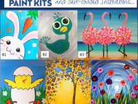 Easter Ready Take Home Paint Kits w/ Step-by-Step Instructions and Supplies $22