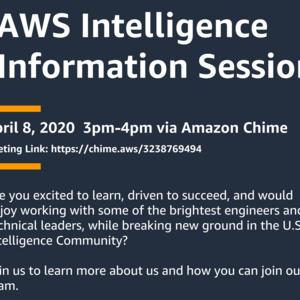 Amazon Web Services (AWS) Intelligence Virtual Information Session