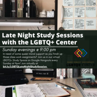 Late Night Study Sessions with the LGBTQ+ Center
