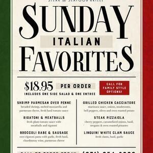 Sunday Italian Favorites