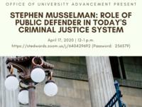 Virtual CEL/University Advancement Present Stephen Musselman