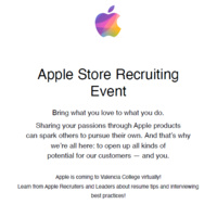 Apple Networking and Recruitment Event