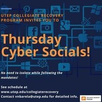 Collegiate Recovery Program's Thursday Cyber Socials