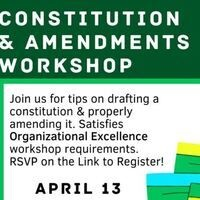 Constitution & Amendments Workshop for Organizational Leaders
