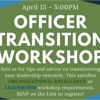 Officer Transition Workshop for Student Org Leaders