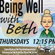 Being Well with Beth, on Instagram Live: A Student Engagement Virtual Programming Event
