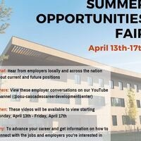 2020 Summer Opportunities Fair - Virtual