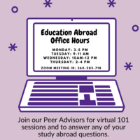 Education Abroad Drop In Hours