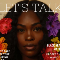 Let's Talk - Black woman on a magazine style image