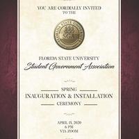 Spring 2020 SGA Inauguration