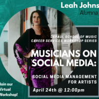 Career Workshops: Musicians on Social Media: Social Media Management for Artists