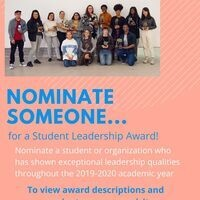 Nominate Someone for a Student Leadership Award!
