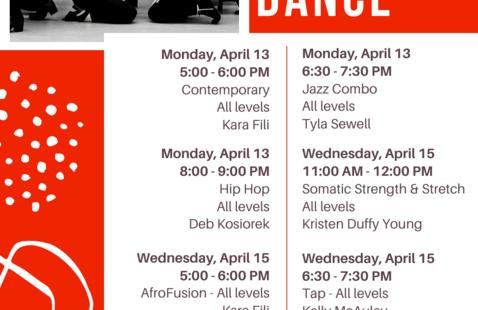COF Dance Schedule Flyer