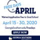 Free Days in April