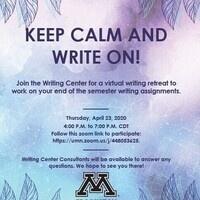 Virtual Writing Night April 23 at 4 p.m. via Zoom