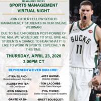 Milwaukee Bucks -Virtual Sports Management Webinar