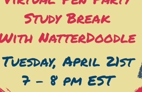 Virtual Pen Party Study Break