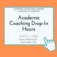 Academic Coaching Drop-In Hours