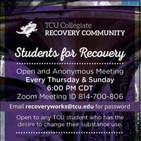 TCU Virtual Recovery Support Meetings