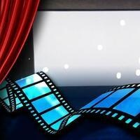 film reel and big screen graphic