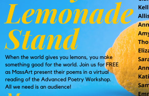Poetry Lemonade Stand: Virtual Poetry Reading Flyer
