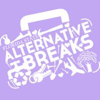 Florida State Alternative Breaks logo in white on lavender background